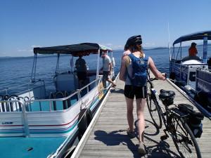 All aboard the bike ferry