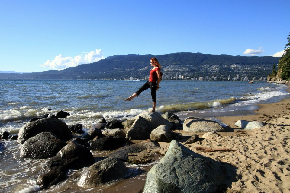 Yoga at Stanley Park in Vancouver, B.C.