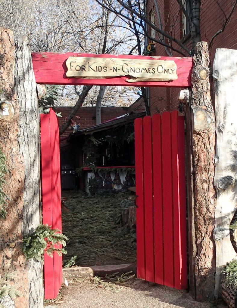Gnome garden entrance