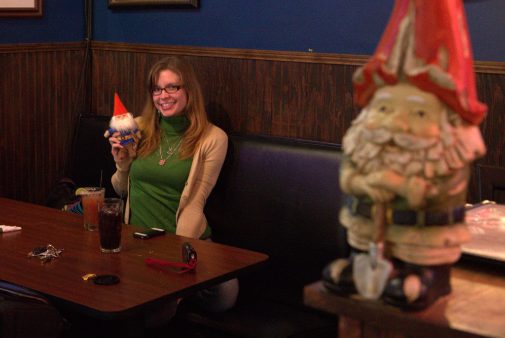 Hanging with my gnomies
