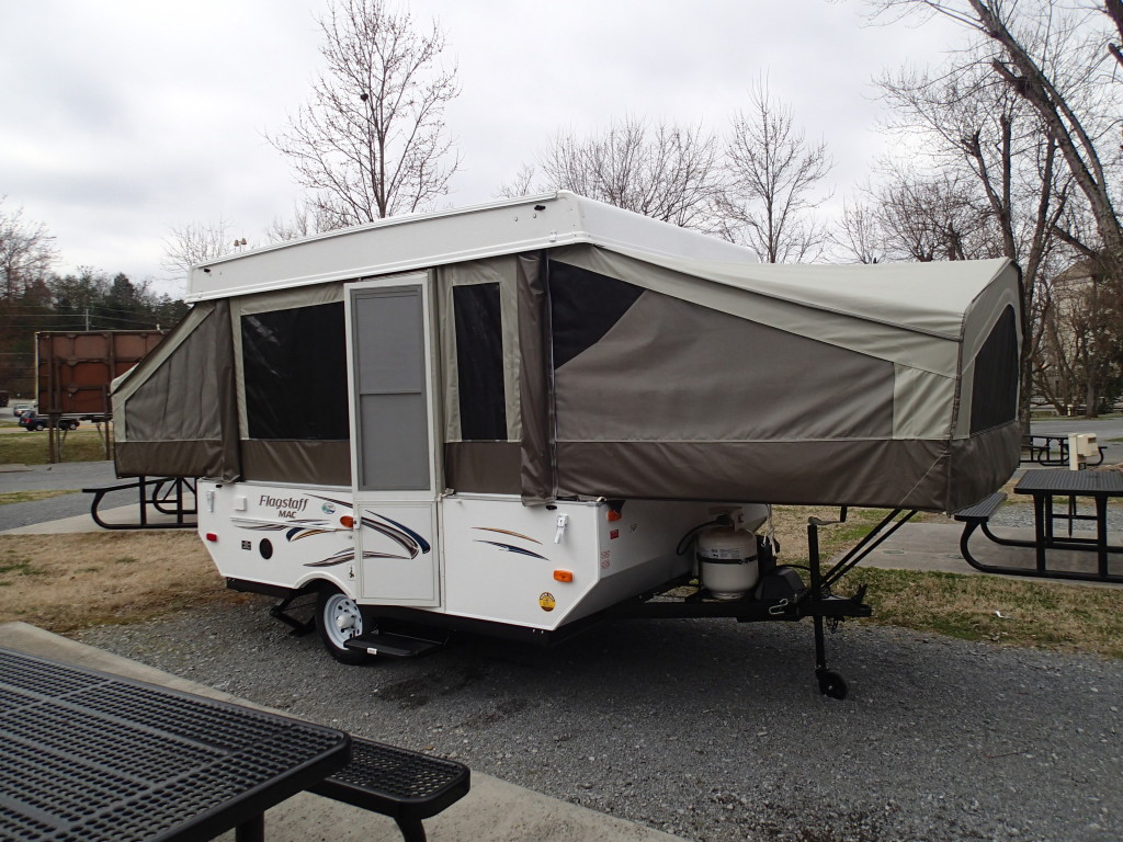 Campsite at River's Edge RV Resort in Pigeon Forge