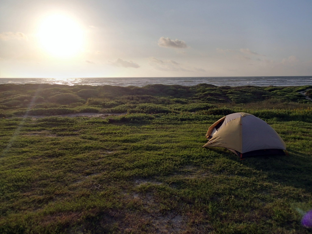 One of my favorite campsites: Padre Island National Seashore
