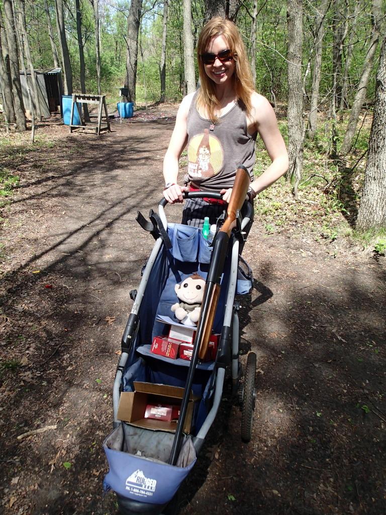 Baby stroller/gun carrier