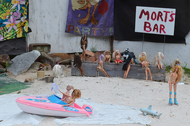 Barbie Beach June 2012 - Photo credit: Tom Magliery via Flickr