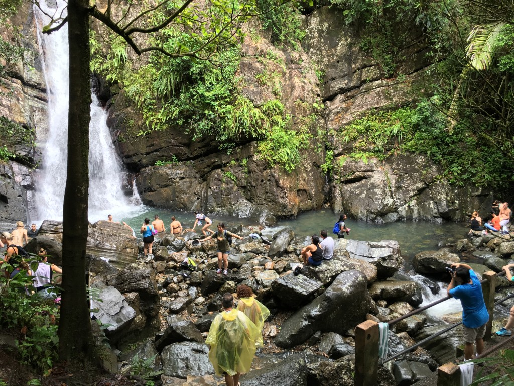 Take a Dip in the Waterfall along La Mina Trail